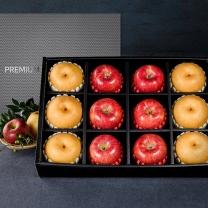 프리미엄 사과 배 혼합선물세트 1호[사과6과+배6과]-보자기동봉