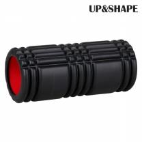 UP&SHAPE 업앤쉐이프 하드 스트럭처 마사지 폼롤러(블랙) 33cm
