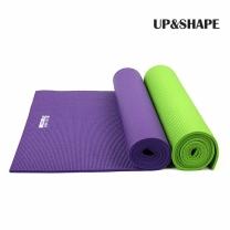 UP&SHAPE 업앤쉐이프 PVC 요가매트 8mm (그린/퍼플)