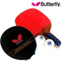 Butterfly  버터플라이 펜홀더(단면)형 탁구라켓 NAKAMA LD + 라켓케이스 구