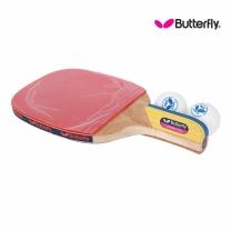 Butterfly 버터플라이 펜홀더(단면)형 탁구라켓 ADDOY P40+탁구공추가증정