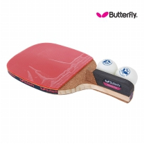 Butterfly  버터플라이 펜홀더(단면)형 탁구라켓 ADDOY P20+탁구공추가증정