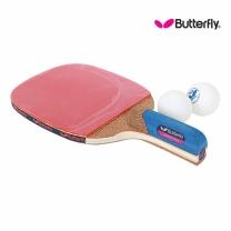 Butterfly 버터플라이 펜홀더(단면)형 탁구라켓 ADDOY P10+탁구공추가증정