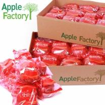 [애플팩토리] 껍질째 먹는 봉지 세척사과 2.5kg (8~15과) X2박스