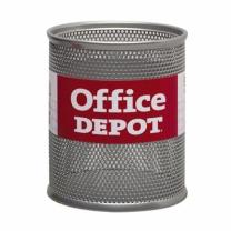 펜꽂이(망사/중/은색/OfficeDEPOT)