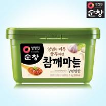 [1+1]청정원 순창 참깨마늘양념쌈장 1kg+1kg(사각)