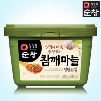 [1+1]청정원 순창 참깨마늘양념쌈장 500g+500g(사각)