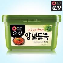 [1+1]청정원 순창 양념듬뿍쌈장 2kg+2kg(사각)