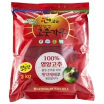 [남영양농협/산지직송] 2018년 햇살촌 영양청결고춧가루 일반 3kg (매운맛)
