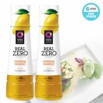 [1+1]청정원 RealZero 오렌지망고 무지방드레싱 325g+325g