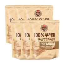 [CJ직배송] 우리밀 통밀영양가득 밀가루(750g) x 6개
