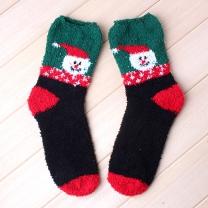 크리스마스 산타 수면양말/연말 선물용 보온숙면양말