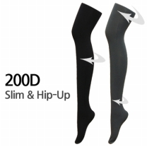 [바보사랑]200D 슬림앤힙업 기능성 착압스타킹 입체설계 각선미개선 보온