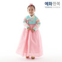 예화 여아용 아동한복_ 천일홍 색동 1003