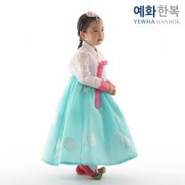 예화 여아용 아동한복_ 어깨수 핑크 1014