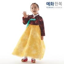 예화 여아용 아동한복_ 레이스 검정 1040