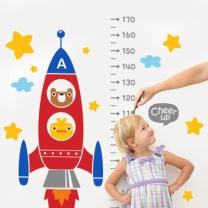 [바보사랑]신나는 우주여행 키재기 스티커