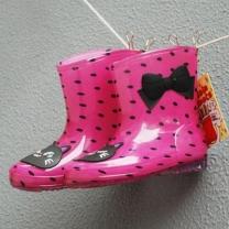 [바보사랑]핑크 고양이 도트 레인부츠(160-200mm) 203108