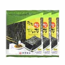 광천원김 살짝구운 쌈파래김 25g(15매입)x3봉