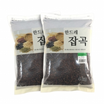 [월드그린] 한드레 칼집찰흑미 4kg2봉