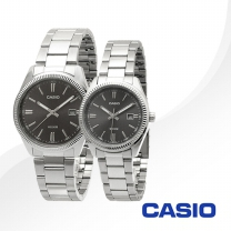 CASIO 카시오 MTP-1302D-1A1+LTP-1302D-1A1 커플 메탈 시계
