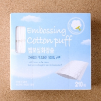 순면 엠보싱 화장솜(210매)