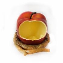 [바보사랑]베니스 사과 피딩컵 (BA-4500) - 새모이그릇 새용품