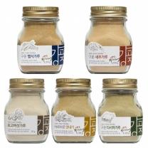 20%할인특가/강고집 천연조미료 5종 각1병씩/멸치/새우/다시마/표고버섯/맛내기가루
