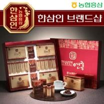 [농협홍삼/한삼인] 연홍선물세트(홍삼순액골드+봉밀절편홍삼+홍삼양갱)