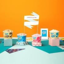 디핀다트 구슬아이스크림 기프트팩2 24ea(초코바나나, 레인보우, 바닐라, 딸기)