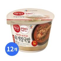 [CJ직배송] 햇반 컵반 육개장밥 X12개