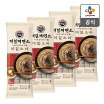 [CJ직배송] 백설 제일제면소 메밀소바 400g  X4개