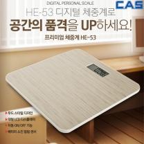 카스 디지털 프리미엄 체중계 HE-53 초슬림 우드디자인
