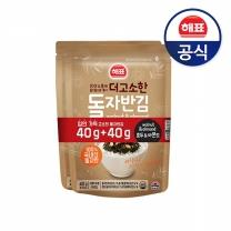 [사조해표] 더고소한돌자반김 호두&아몬드 김가루 (40g+40g) x4개