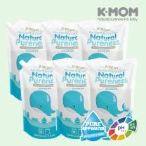 [케이맘] Natural Pureness 유아세탁세제 1300ml 리필 (6팩 1BOX)
