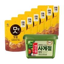 [CJ직배송] 맛밤80g X6개+사계절쌈장500g