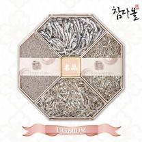 [참다올]통영팔각한지함 멸치선물세트 4호