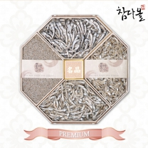 [참다올]통영팔각한지함 멸치선물세트 3호