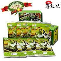[광천김] 올리브유 녹차 전장김(5매10봉)x2박스