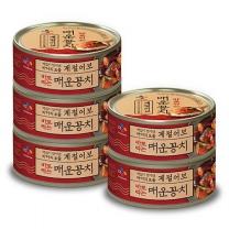 [CJ직배송] 계절어보 바로먹는 매운꽁치 120g X5개