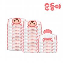 순둥이 베이직 무향 엠보싱 휴대 캡형 20매 20팩