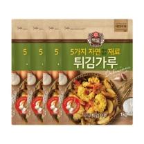[CJ직배송] 백설 자연재료 튀김가루 1kg X4개