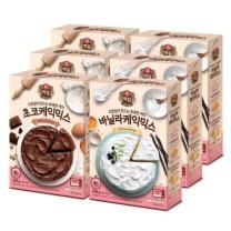 [CJ직배송] 바닐라케익믹스(290g) X3개 + 초코케익믹스(300g) X3개 (총6개)