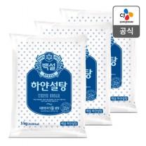 [CJ직배송] 백설 하얀설탕5kg X3개