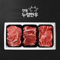 [냉장] 안동누렁한우 명품세트 1호 1.5kg(등심500g+안심500g+채끝500g)