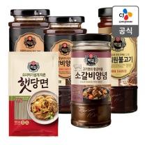 [CJ직배송] 백설 갈비양념X2개 +햇당면300g +소갈비양념 +사리원불고기양념480g