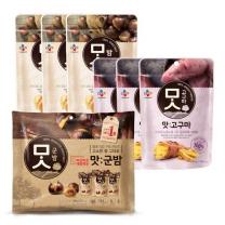 [CJ직배송] 맛밤80g X3개 +맛군밤60g X3개 + 맛고구마60g X3개