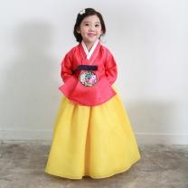 예화_ 여아 아동한복 홍아색당의 17-2036