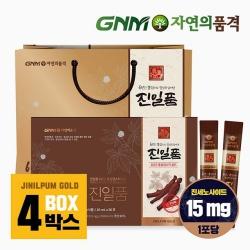 GNM자연의품격 진일품 6년근 홍삼정스틱골드 4박스 (120포)