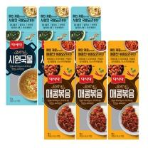 [CJ직배송] 다시다 요리의신 시원국물 50g X3개+매콤볶음 90g X3개